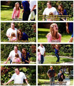 """Coyotes must've got a cat"" - Cam, Gloria, Jay and Manny #ModernFamily"
