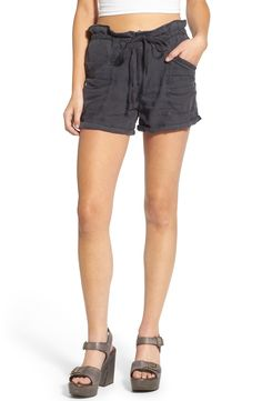 BLANKNYC 'Doing Time' Drawstring Linen Shorts available at #Nordstrom