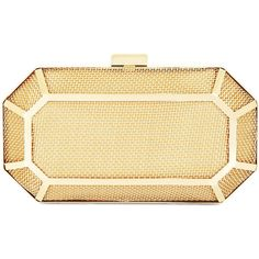 BCBGMAXAZRIA Theodora Metal Cage Gem Clutch ($158) ❤ liked on Polyvore featuring bags, handbags, clutches, chain handle handbags, bcbgmaxazria handbags, bcbgmaxazria, chain strap purse and evening purse