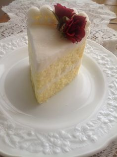 Yellow Cake Slice Candle With Buttercream by everythingdawn