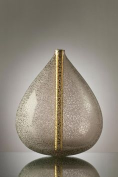 Michael Schunke hand-blown glass Crucible series, engraved sculptures.