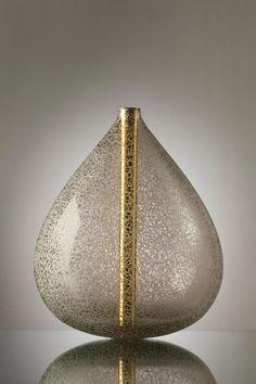 Michael Schunke hand-blown glass Crucible series, engraved sculptures.