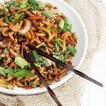 15 Minute Spicy Udon and Vegetable Stir Fry by Seasons and Suppers. 15 Weight Watchers Points Plus per serving (serves 2 as entree).