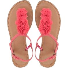 coral shoes, beautiful colour for summertime! Coral Shoes, Coral Sandals, Cute Sandals, T Strap Sandals, Cute Shoes, Me Too Shoes, Shoes Sandals, Flat Shoes, Studded Sandals