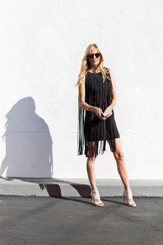 my style: little black fringe dress