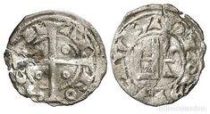 ÓBOLO TOULOUSE FRANCIA ALFONSO DE POITIERS (1249-1271) MUY RARO