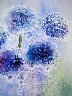 Watercolor Thistles by Yvonne Harry