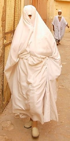 The Haik is a large piece of cotton, silk, or wool cloth worn as an outer garment in Morocco.