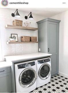 Laundry Room Layouts, Laundry Room Remodel, Small Laundry Rooms, Laundry Room Organization, Laundry Room Design, Laundry In Bathroom, Basement Laundry, Laundry Closet, Laundry Storage