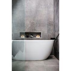 Bathroom Ideas Modern Bathroom Shower Jacuzzi bathtub Washbasins Decor In Grey Bathroom Tiles, Bathroom Renos, Grey Bathrooms, Laundry In Bathroom, Beautiful Bathrooms, Bathroom Interior, Bathroom Ideas, Grey Tiles, Bathroom Small