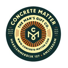 Concrete Matter by Tim Boelaars Lettering, Typography Logo, Graphic Design Typography, Logo Branding, Branding Design, Label Design, Badges, Woodworking Logo, Woodworking Ideas
