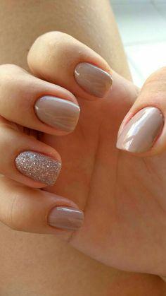 Cute Nail Colors - Neutral Nail Polish Color Nail Color Ideas Cute - Ideas neutral colors for nail polishes - Fashion Feed Neutral Nail Polish, Nail Polish Colors, Color Nails, Gel Polish, Nails 2018, Prom Nails, Nude Nails, My Nails, Nude Sparkly Nails