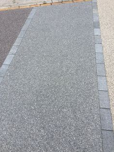 'Storm Grey' Resin-bonded gravel in or aggregate. This product has a guarantee f Resin Driveway, Resin Patio, Driveway Paving, Driveway Design, Driveway Landscaping, Modern Landscaping, Driveway Ideas, Driveway Entrance, Modern Landscape Design