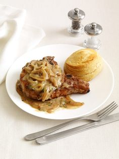 Smothered Pork Chops Recipe : Food Network Kitchen : Food Network - FoodNetwork.com