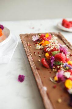 Raw Chocolate Raspberry Tart - Gluten Free, Vegan - Ascension Kitchen