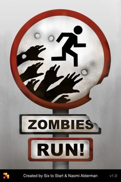 A Zombie running game/app?!?!...I bet this is fun when running outside...Imagination