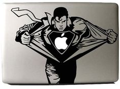 Superman  Mac Decal Macbook Stickers Macbook Decals by Worldcake, $8.50