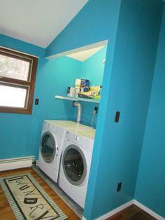Laundry room painted in Valspar - Catwalk
