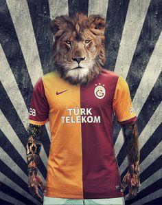 Galatasaray New Season Uniform by Fırat Doger, via Behance Sports Clubs, Ronaldo, Lions, Soccer, Seasons, Mens Tops, Photography, Beautiful, Behance