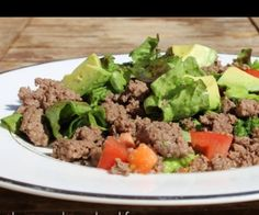 Paleo Taco Salad minus the Taco ASO - This is pretty self-explanatory. I used salsa instead of salad dressing. Always a repeat in our house.