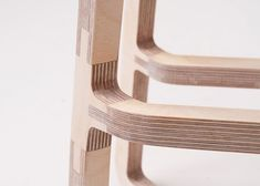 furniture details Beautiful joinery developed by Bakery Design for its Woodini furniture. Spotted on DesignBreak. Woodworking Furniture, Plywood Furniture, Diy Furniture, Furniture Design, Barbie Furniture, Garden Furniture, Intarsia Woodworking, Woodworking Basics, Woodworking Store