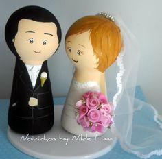 Personalised wedding cake topper