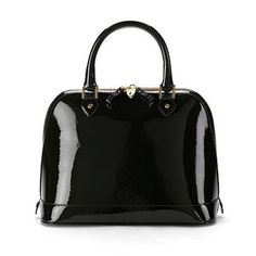 Hepburn Bag in Black Patent. Looks so smart.
