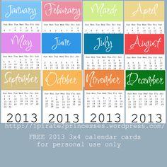 Calendar cards!