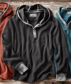 Effortlessly Cool Men's Hoodies - Double Stack Hoodie - Carbon2Cobalt