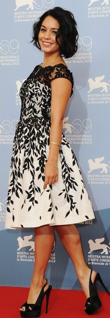 Vanessa Hudgens:  Dress – Blumarine    Shoes – Giuseppe Zanotti
