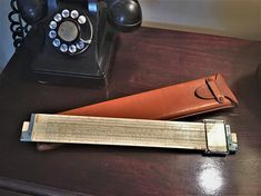 Vintage Slide Rule with Leather Case Keuffel Esser N40061 3 Log Log Duplex Decitrig 1947 Engineers Collectible