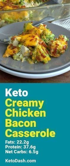 Trying this Creamy Chicken Bacon Casserole and it is delicious. What a great keto recipe. #keto #ketorecipes #lowcarb #lowcarbrecipes #healthyeating #healthyrecipes #diabeticfriendly #lowcarbdiet #ketodiet #ketogenicdiet