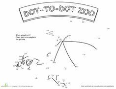 Worksheets: Bat Dot-to-Dot Printable (6s)