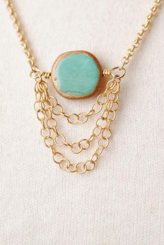 Solstice Womens Brass Circle Necklace K