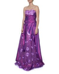 Snow White Sweetheart Princess Evening Gown - Purple