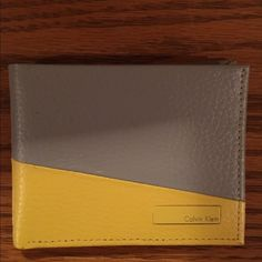 Calvin Klein Men's Wallet REAL LEATHER NEW CK MENS WALLET 2 TONED Calvin Klein Bags Wallets