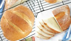 Revoluční domácí chléb – Hotový za 90 minut a tak snadný, že se nemůže nepovést Bread Baking, Hot Dog Buns, Ice Cream, Pizza, Cheesecake, Recipes, Food, Breads, Chicken