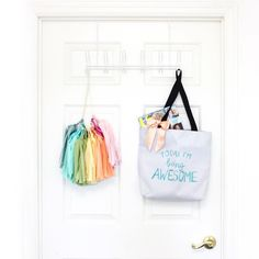 Hooray! Today is day 4 in our weeklong giveaway series!!! We've partnered with our gal pal @rachel_tenny for a week of giveaways. Today we're pairing their awesome tote bag with our yet to be revealed 'RAINBOW' Tissue Paper Tassel Garland Kit!  Love the combo above?!? Make sure you're following both @theflairexchange and @rachel_tenny then leave a comment below tagging your best gal pals the ones that put a  in your sky!!! Winner will be announced tomorrow at 9pm EST via Insta comment…