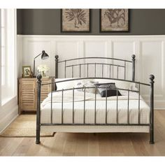 premier diana metal platform bed frame with bonus base wooden slat support multiple sizes