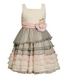 Bonnie Jean 7-16 Colorblocked Tiered Chiffon Dress | Dillards.com Jr. Bridesmaid dress