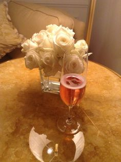Rose Champagne @ FS Paris simple elegance!! @Mandy Dewey Seasons Bridal