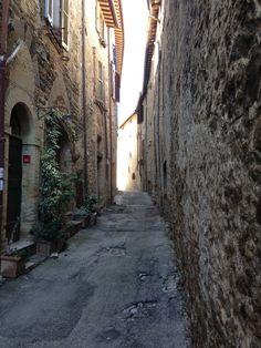 Medieval alley in Bevagna.
