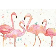 Posterazzi Flamingo Fever I Canvas Art - Anne Tavoletti (24 x 36)