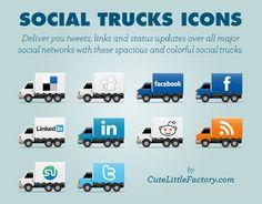 Social Media Icons - trucks