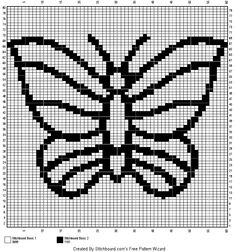 Crocheted Blankets, Cross Stitch Alphabet, Butterflies, Needlepoint, Cross Stitch, Crochet Blankets, Butterfly, Bowties, Knitted Blankets