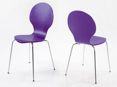 Hugo Birch Molded Purple Set of 4 Dining Chairs from @FADS #FADSSpringRestyle