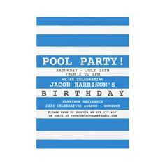 Pool Party Birthday Invitations by reflections06