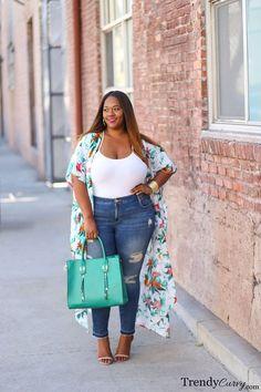 Spring Florals | Plus Size Fashion | TrendyCurvy