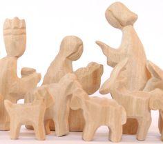 Nativity set, Wooden Christmas Crèche, Holy family, Nativity Scene
