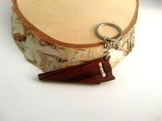 Wooden Saw Tool Keychain Walnut wood Environmental by PongiWorks